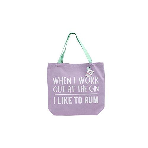 CGB Giftware Gym And Tonic I Like To Rum Schultertasche mit Slogan (Einheitsgröße) (Violett) Violett