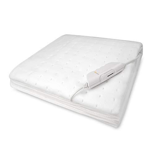 Medisana HU 662 Wärmeunterbett, Heizdecke mit 6 Temperaturstufen, 150 x 80 cm mit Abschaltautomatik und Überhitzungsschutz, waschbar - Wärmedecke für alle gängigen Matratzen geeignet - 61220