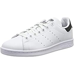 adidas Unisex-Kinder Stan Smith Sneaker, Weiß (Footwear White/Core Black/Footwear White 0), 38 EU