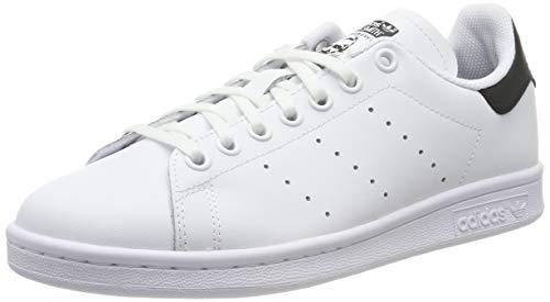 Adidas stan smith j, scarpe da ginnastica unisex bambini, bianco (ftwr white/core black/ftwr white ftwr white/core black/ftwr white), 36 eu