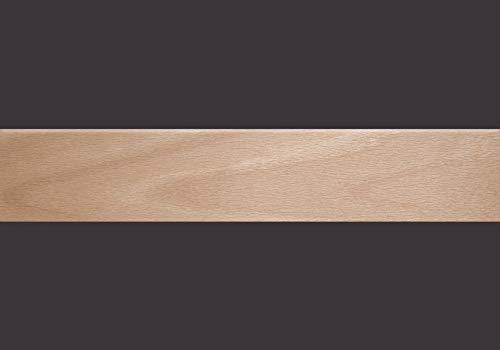 Furnierkante Buche gedämpft, mit Schmelzkleber, 0,6 x 24 mm, Rolle à 50 lfm -