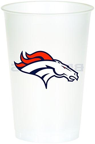 Creative Converting NFL Papierschüssel, offizielles Lizenzprodukt, 8 Stück, 570 ml, Denver Cowboys 20 oz Cups
