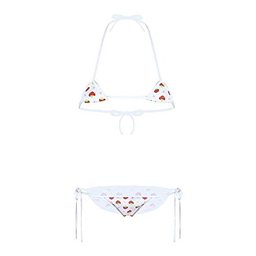 YOMORIO Micro Bikini Strawberry String Dessous-Set Anime Cosplay Tanga Bikini