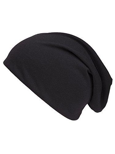 Shenky - Bonnet unisexe - jersey Bonnet Réversible - Noir/Gris