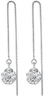 Yoursfs-Pendientes una larga cadena con dos pelota exquisito, pendientes largos fiestas Simple y elegante mujer regalo para novias