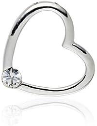 Rafaela Donata - 60836035 - Glossy Collection - Pendentif Femme (sans chaîne) - Coeur - Laiton - orné de cristaux de Swarovski® - Blanc