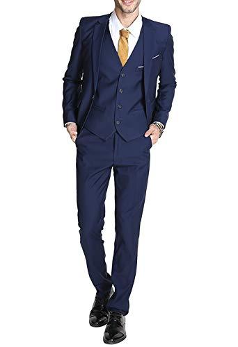 Allthemen Abiti da Uomo 3 Pezzi Slim Fit Classic Smoking Matrimonio Formale Suit Giacche One Button Monopetto Prom Partito Giacca Sportiva
