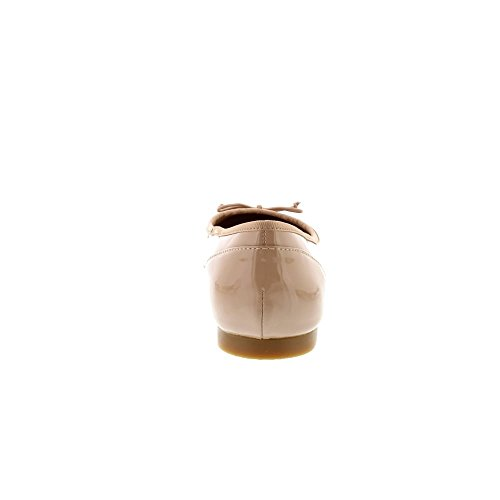 Beige Ballerinas Damen Couture Clarks 261339924 Bloom Patent Nude a0qwd5Aw