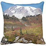 "Mount Rainier Portrait Photo Square Rc1b219bf02844172be5e9f764fae5ae6 I5f0b 8byvr Pillow case/Copricuscini e federe 18"" * 18"""