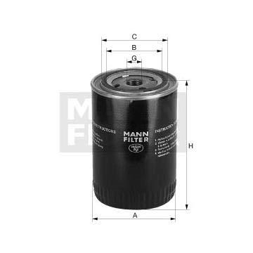 Filtro olio sostituzione MANN 65003491