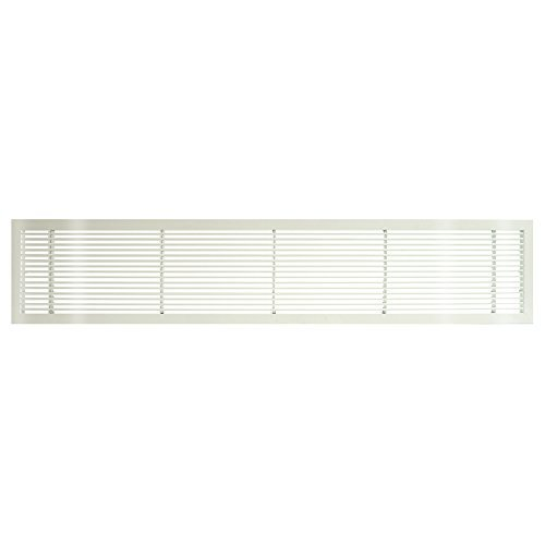 Architectural Grille 100043003 AG10 Series 4 x 30 Solid Aluminum Fixed Bar Supply/Return Air Vent Grille, White-Gloss by Architectural Grille -
