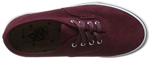 Vans Authentic, Baskets Basses Mixte Enfant Rouge (Suede port royale/tweed dots)