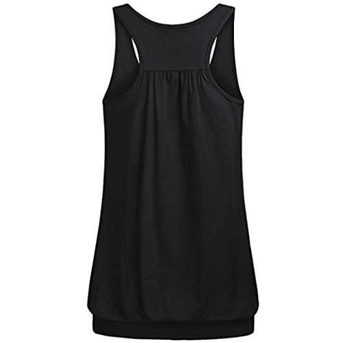 TUDUZ Damen Rundhals Stretch Sport Top Cute Racerback Yoga Workout Sommer Shirts Tank Top ()