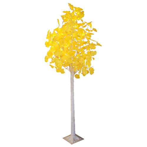 Lámpara de Pie Lámparas de Pie Árbol de Ginkgo Dorado Glitter Twig Tree Leds Luz cálida Lentejuelas Rama 1.8 pies de Altura para la Fiesta de Bodas de Navidad Lámparas de pie