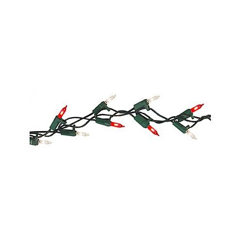 SIENNA LLC Pre-Lit Christmas Garland, Shimmering Red & Clear, Indoor & Outdoor, 100-Ct., 9-Ft.