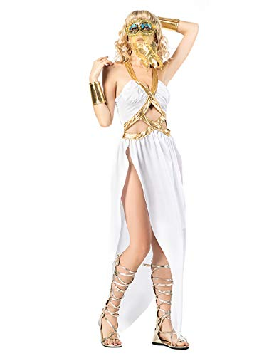 Zhuhaijq Damen Kostüm Verkleidung für Karneval Fasching Halloween Parties Kostüm Halloween Dress Womens Costume - Halloween Greece Statue of Liberty Costume