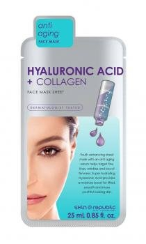 Skin Republic Super Hydrating Hyaluronic Acid + Collagen Face Mask 25ml by SKINREPUBL