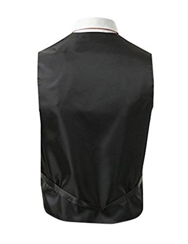 Herren 3 Stueck Weste NeckTie Tasche Square Set fuer Anzug oder Smoking von Judi Dench Rot