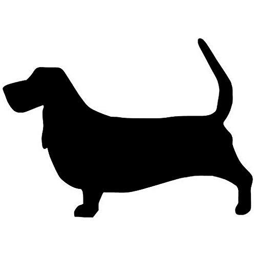 amayituo Basset Hound Dog Cute Haustier Hund Schalter Formen Vinyl2SS0135 @ Black Sticker Skin -