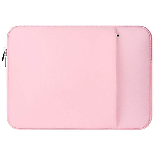 Bobopai Portable Laptop Sleeve Case Notebook Cover Carry Bag for Laptop Zipper for Ultrabooks/MacBook Air/MacBook Pro 11/12/13/14/15/15.6 inches (15.6inches, Pink)