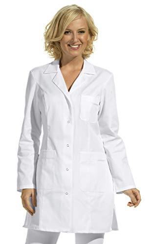Damen Hosenkasack 1/1 Arm -weiß- mit 3 Taschen, waschbar bis 60°C (38) - Blazer Arzt,
