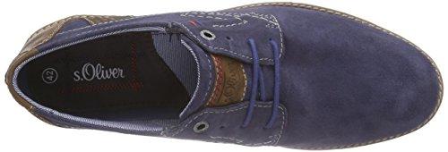 s.Oliver - 13621, Scarpe stringate Uomo Blu (Blau (BLUE 800))