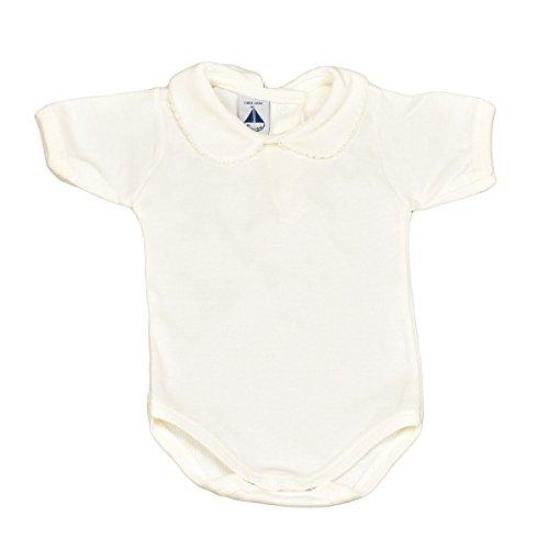 babidu Baby-Mädchen Unterwäsche-Set Body Cuello Bebe Manga Corta, weiß, 3 Monate