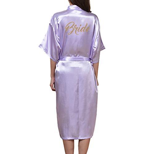 Yying Kimono Bata Novia Dama Honor Largos Camisones