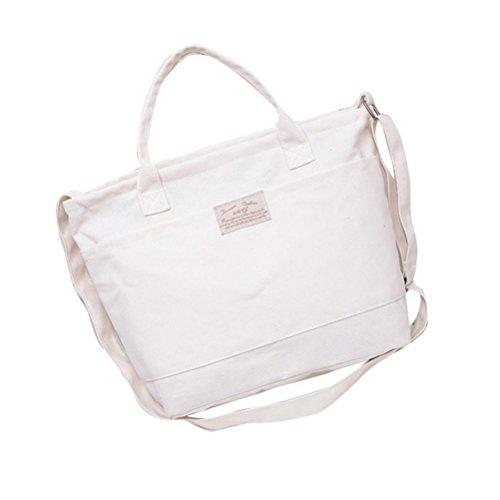 Transer Women Shoulder Bag Popular Girls Hand Bag Ladies Canvas Handbag, Borsa a spalla donna Black 37cm(L)*28(H)*11cm(W) White
