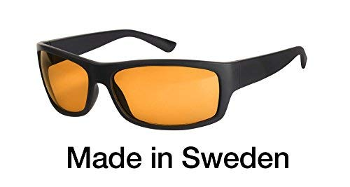 Blaulichtfilter - Sportbrille - Wrap-around Brille, Blue Blocker mit Kantenfilter 511, UV-Schutz, Blendschutz, kontraststeigernde Unisex-Lichtschutzbrille IV PROSHIELD