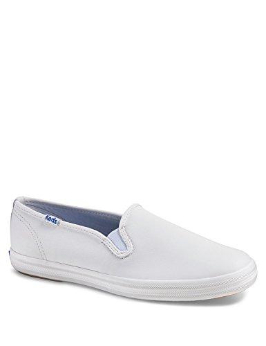 Keds Women's Champion Core Slip Leather Slip Ons White in Size 37.5 M Keds Slip On Sneakers