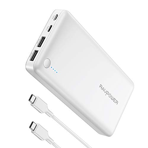 "RAVPower 26800mAh Powerbank USB C Power Delivery (30W PD) Externer Akku mit Type C Kabel Kompatibel mit iPhone XS Max/XR / 8 / X, iPad, Nintendo Switch, Galaxy, Huawei, MacBook 12\"" usw"