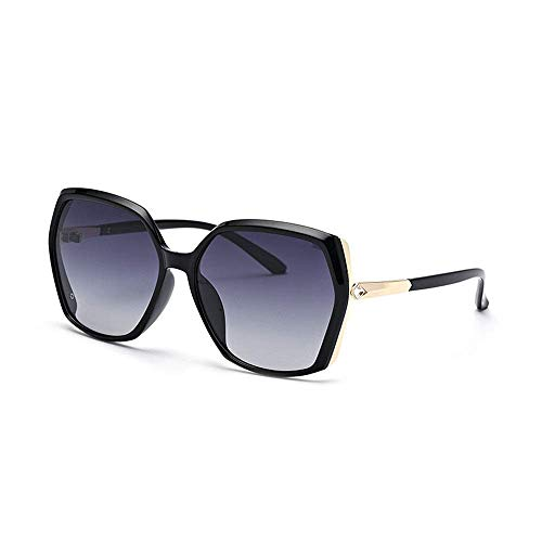 XHCP Frauen polarisierte Klassische Flieger-Sonnenbrille, Damen-Sommer-Strand-Ferien-Sonnenbrille mit Diamant-Dekorations-Reise-Katzenauge-Metallrahmen-Sonnenbrille-kleinem Gesicht weibliche UVso