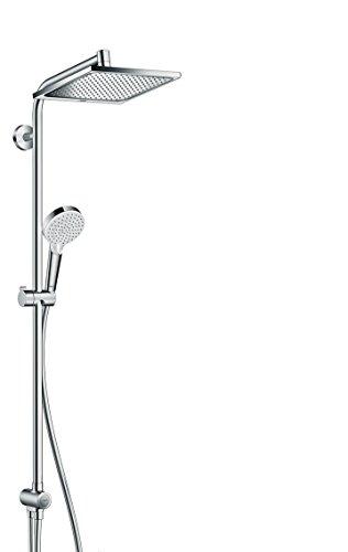 2 Durchlauferhitzer (hansgrohe Crometta E 240 wassersparendes Reno Duschsystem (2 Strahlarten) chrom)