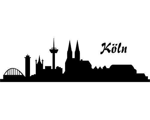 plot4u Wandtattoo Köln Skyline 30x9cm schwarz