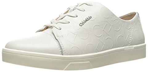 Calvin Klein Damen Imilia Nappa Leather Sneakers, Weiß (Wht), 38 EU (Calvin Klein Sneakers)