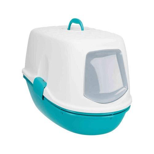 Trixie Berto Top Katzentoilette mit Dach für Katzen HELLBLAU/Taupe/Granit 39× 42× 59cm