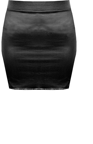 Faux Leather Mini Skirt (sizes S M L)  Leather mini skirts became very popular in the 1980s, and this low-cost, sleek skirt is Ideal for a rock/punk/80s look.