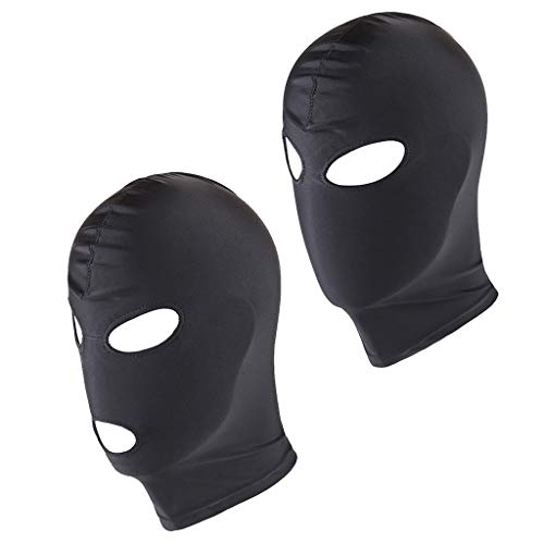 FLAMEER 2pack Männer Frauen Atmungsaktive Gesichtsabdeckung Spandex Volle Kopf Kostüm Maske Kapuze