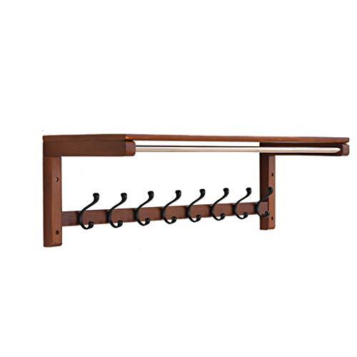 Panet Kleiderständer Wandbehang Wandaufhänger Veranda Eintritt Kleiderhaken Wohnzimmer Massivholz Mehrzweckständer (größe : 84.7 * 29.5 * 27.3cm)