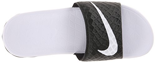 Nike - Wmns Benassi Solarsoft, Infradito Unisex – Adulto Blanco (Blanco (black/white))