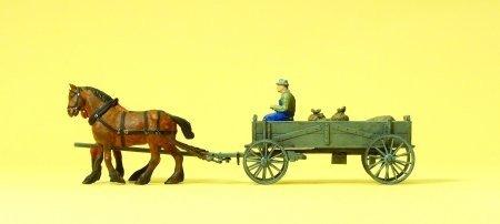 Preiser 30411 Kastenwagen mit Säcken Spur H0 [Spielzeug]
