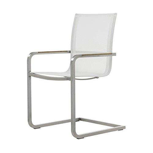 Lux Freischwinger Sessel weiß