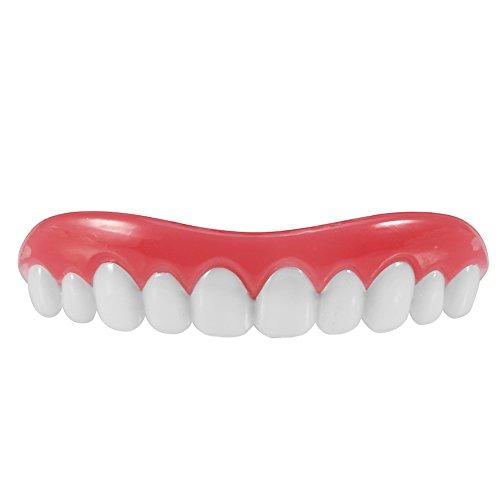 Falsche Zähne, Dental Zahn Veneer für Oberkiefer Zahnoberfurnier Schablonen Wiedereinbau Zahn (Zahnspange Zähne Kostüm)