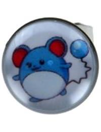c6fd3bddd592 Joyería de los señores solo de Pokémon ratón Marill 8 mm acero inoxidable  pendiente del perno