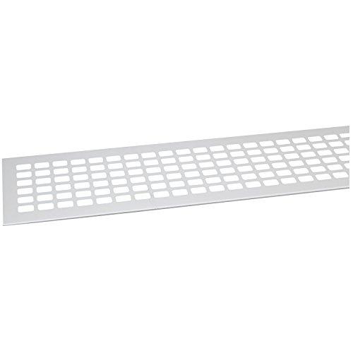 SECOTEC Lüftungsgitter 100 x 1000 mm| Alu | Oberfläche: natur eloxiert | 1 Stück Abluftgitter