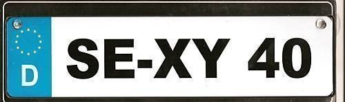 1 METALL SCHILD SE-XY 40 (28,5x7cm) 40.Geburtstag Deko