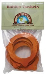 Down to Earth Rubber Gaskets for Canning Jars 100mm - 12 Large by Down To Earth Distributors