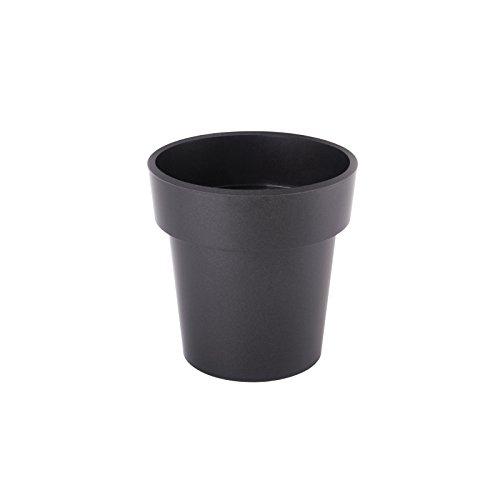 Juypal Premium Polypropylene Flower Pot (Black, 01382)