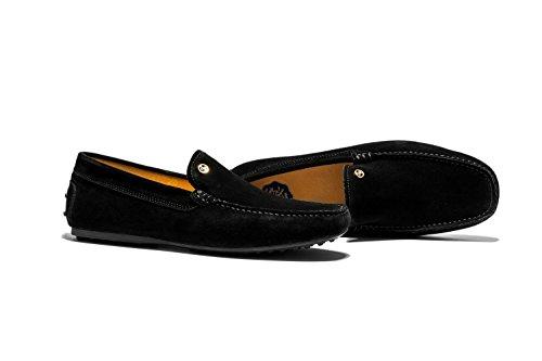 Retro Moccassins Loafers de Loisirs Chaussures Homme Noir
